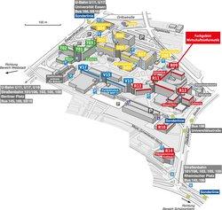 Karte vom Essener Universitätscampus